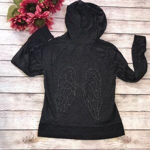 🎉Victoria's Secret Crystal embellished zip jacket